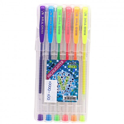 6 in 1 Colourfu Pen, 0.7mm Highlighter Pen, 6 Colour, Student Office Note