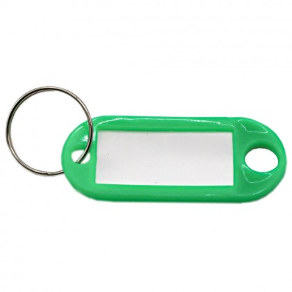 1 Pcs Colourful Plastic Keychain with Name Tag, Key Holder Name Label ID