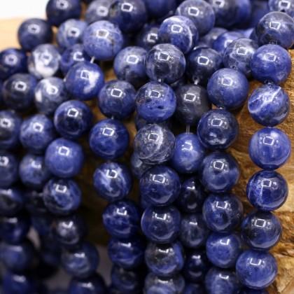 Natural Sodalite Gemstone Beads, 4mm-12mm, Round, L3-02298