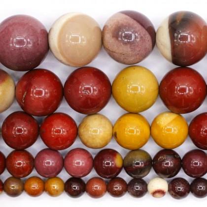 Natural Mookaite Gemstone Beads, Stone Bead, 4mm-12mm, Smooth Round, Diy, L3-02480