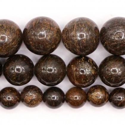 Natural Bronzite Gemstone Beads, Stone Bead, 6mm-10mm, Smooth Round, Diy, L3-02386