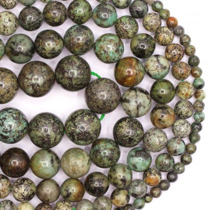 Natural African Turquoise Gemstone Beads, Stone Bead, 4mm-12mm, Smooth Round, Diy, L3-02208
