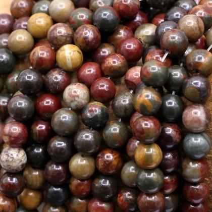 Natural Picasso Jasper Gemstone Beads, Stone Bead, 4mm-12mm, Smooth Round, Diy, L3-02213