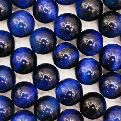 Blue Tiger Eye Gemstone Beads, Stone Bead, 4mm-12mm, Smooth Round, Diy, L3-02419