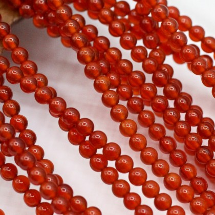 Natural Red Agate Gemstone Beads, Stone Bead, 3mm, Smooth Round, Diy, L3-05864
