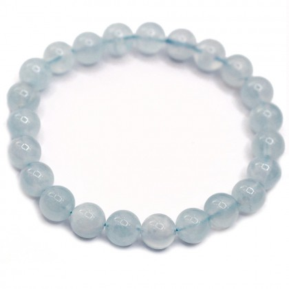 Natural Aquamarine Bracelet Round