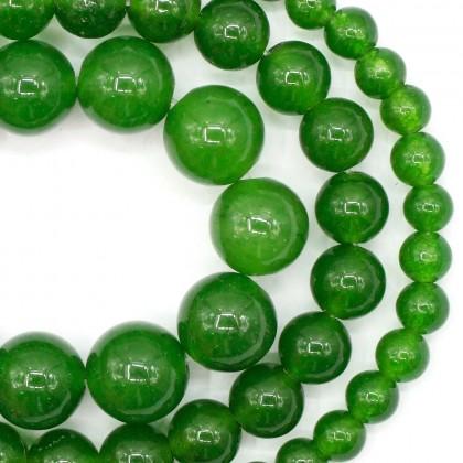 Green Agate Gemstone Beads, Stone Bead, 4mm-8mm, Smooth Round, Diy, L3-02518