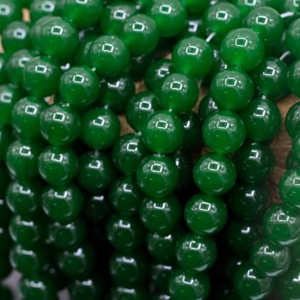 Green Chalcedony Gemstone Beads, Stone Bead, 10mm-12mm, Smooth Round, Diy, L3-02411