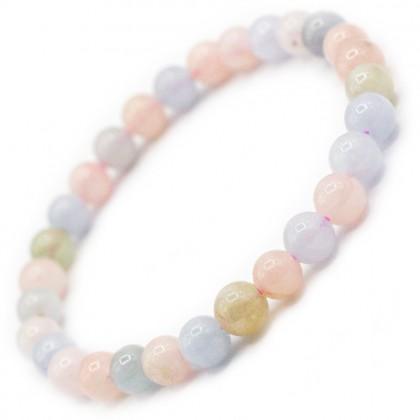 Natural Morganite Bracelet Round