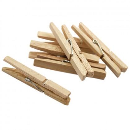 24 Pcs Wooden Peg Wood Clothes Clip DIY Decoration