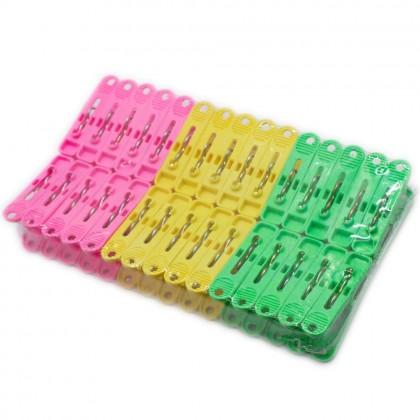 30 Pcs Multicolour Plastic Clothes Pegs, Plastic Clip, 55x12mm